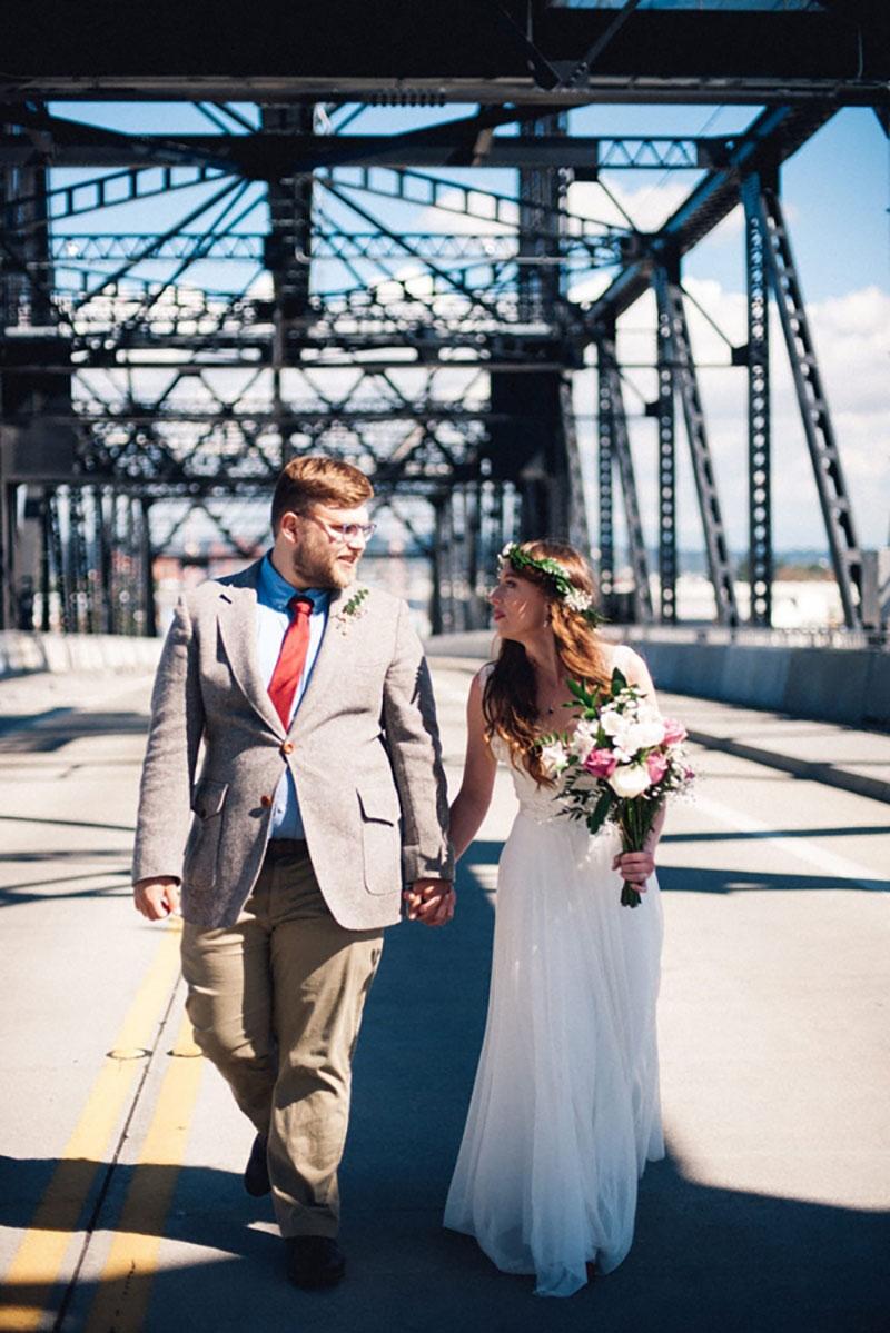 A Morgan Bridge ceremony and museum wedding