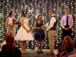 PixiePocket Rockabilly 1950s wedding dresses on offbeat bride (11)
