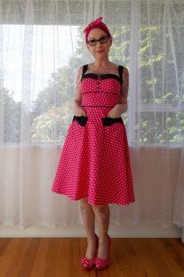 PixiePocket Rockabilly 1950s wedding dresses on offbeat bride (8)