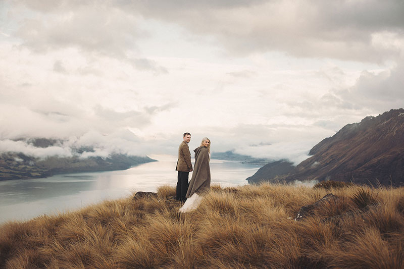 An intimate and majestic Middle-earth elopement in New Zealand (with a rainbow!)