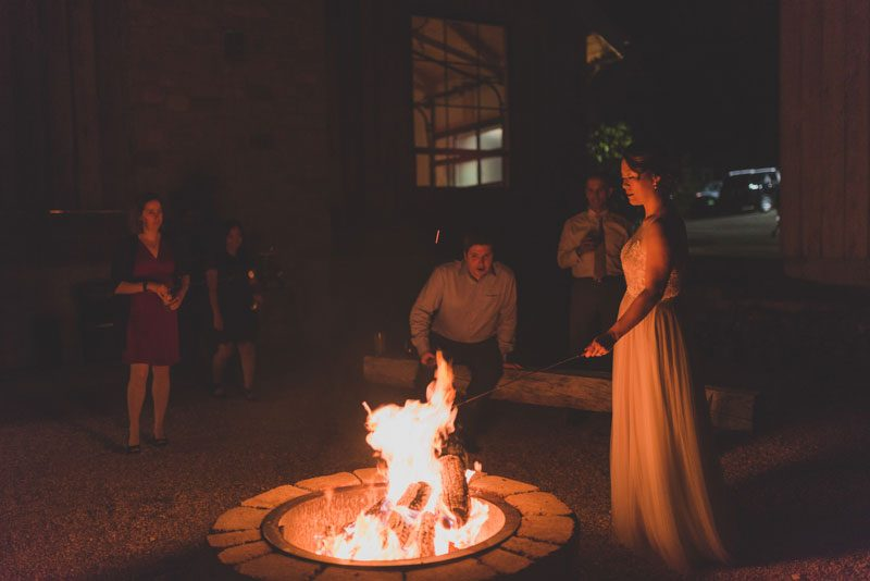 S'mores, archery, cowboy chic at this wedding