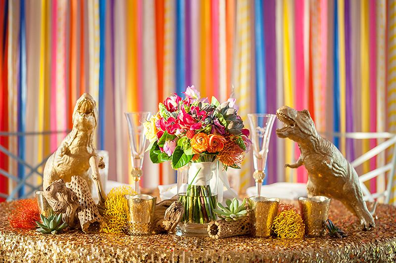 Dinosaur wedding decor