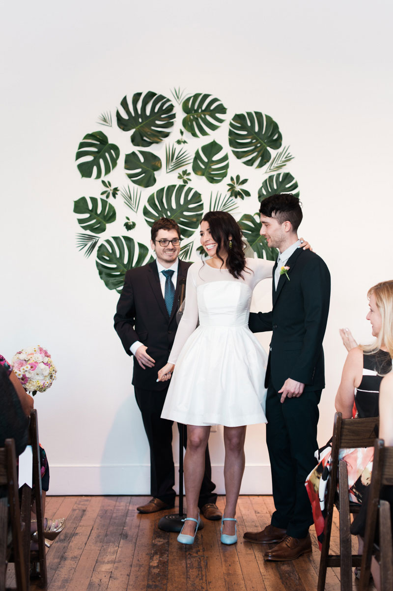 Wedding palms and monstera decor are our new favorite obsession