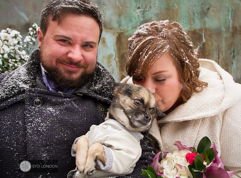 A queer winter wonderland wedding