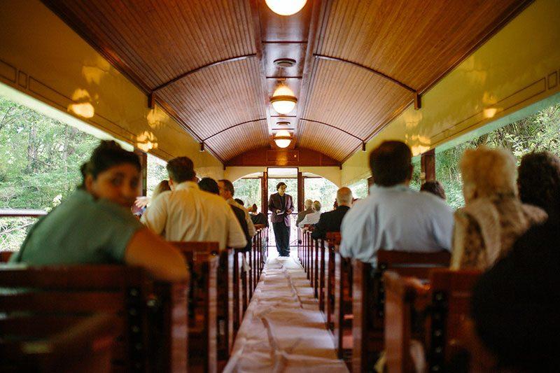 wedding on a train