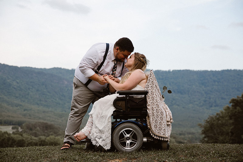 Try and stop the tears from flowing at this sweet and emotional backyard wedding in Tennessee