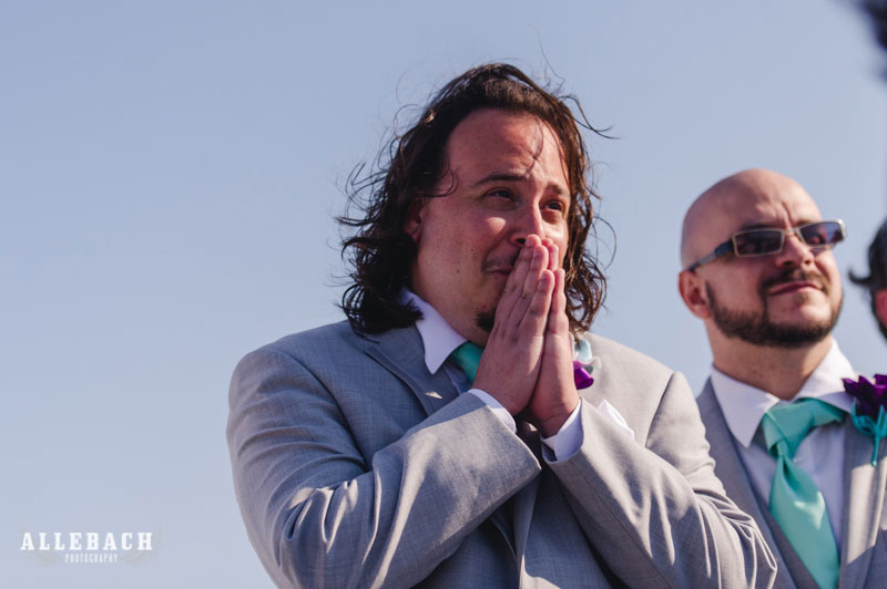 Ride the emotional face journey of this groom with ALL the feeeels