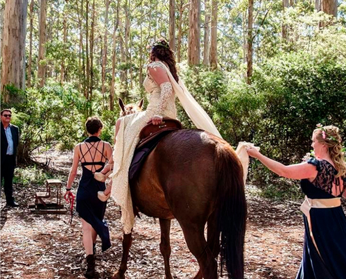 Getting back on the (literal) horse: the unexpected can be what makes a wedding a success