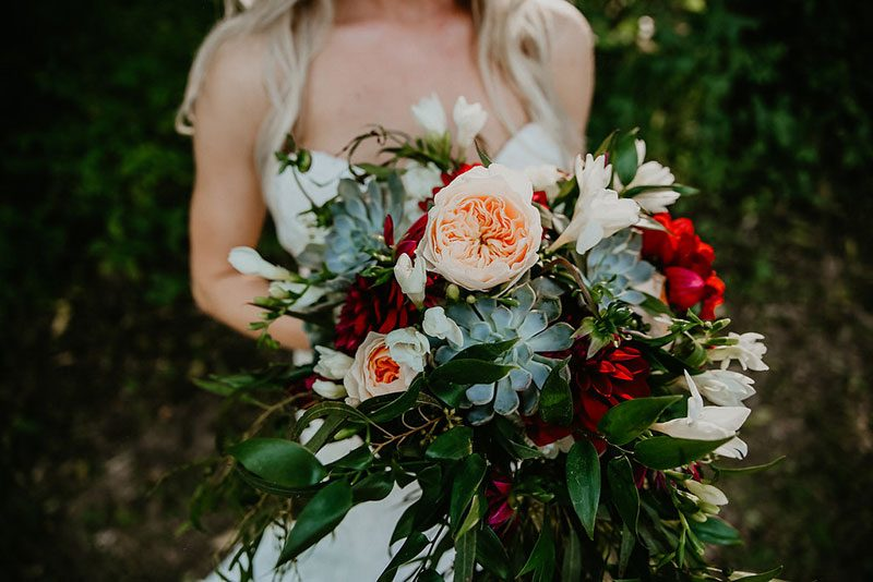 Be swept away by this woodland backyard wedding