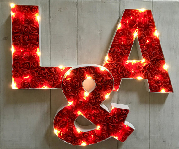 light-up wedding marquees