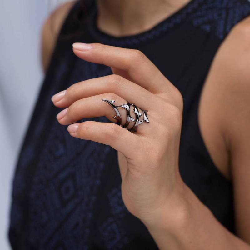 Goth wedding rings