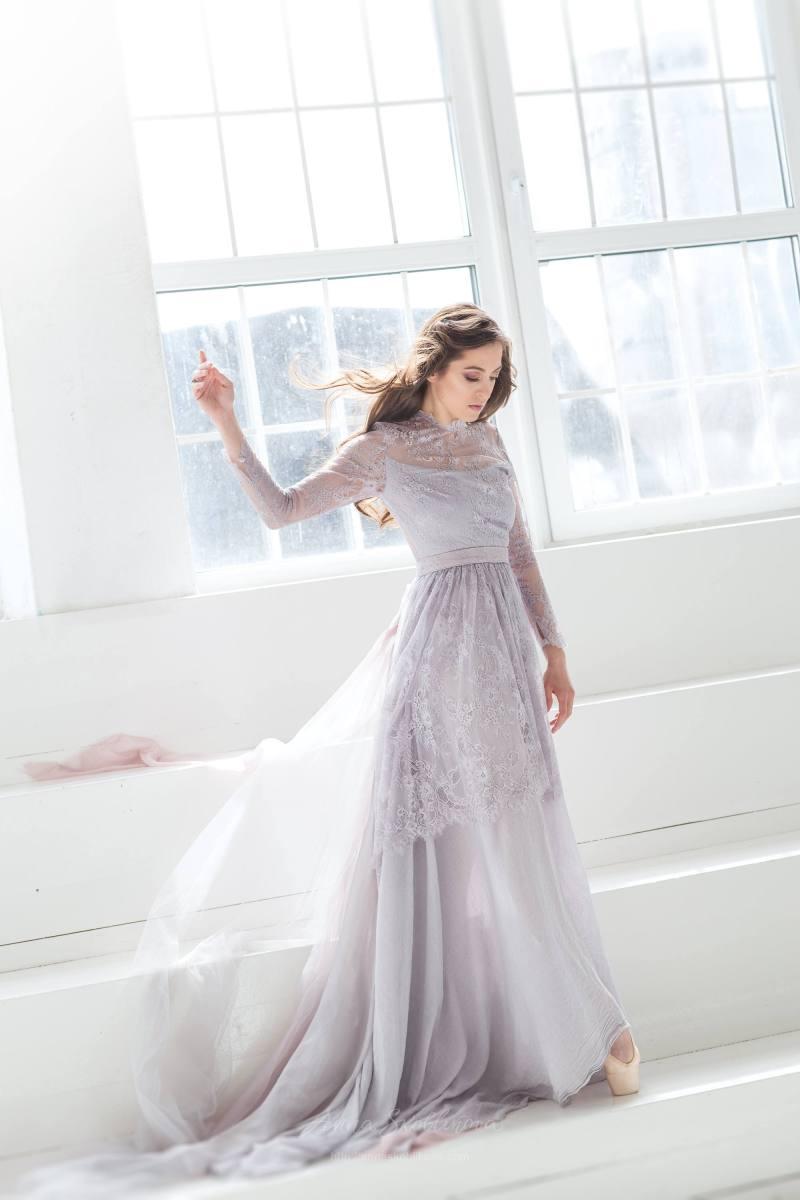 gray wedding dresses