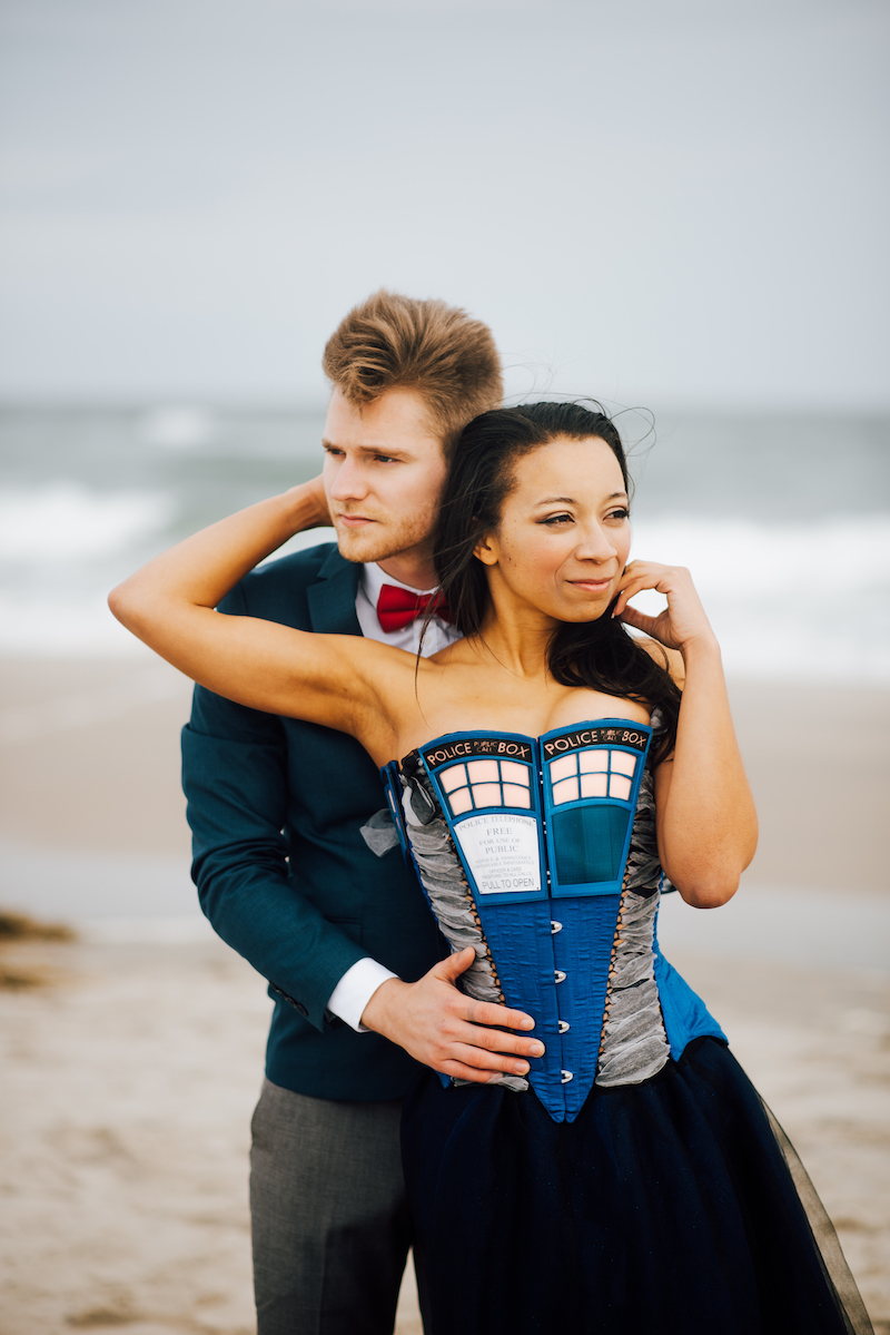 The 11th Doctor travels through time with his TARDIS: it's Doctor Who wedding inspiration!