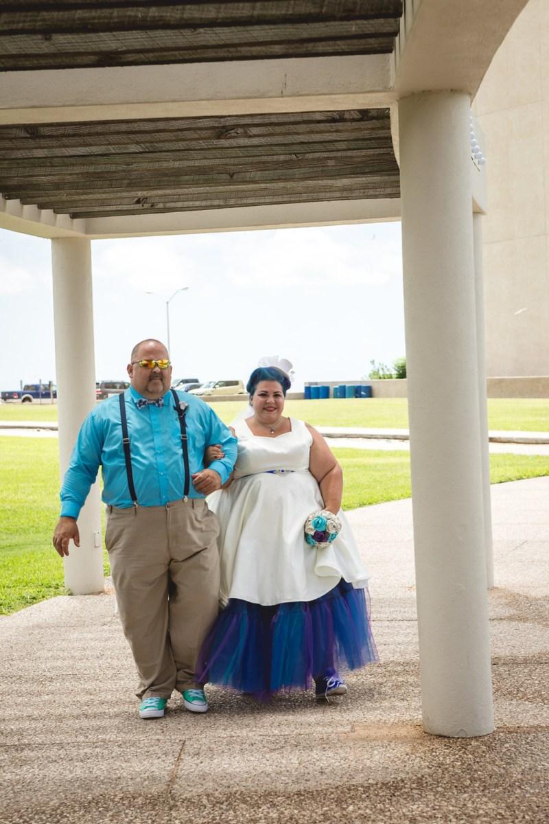 Fandoms meet classic Offbeat Bride style at this Texas sci-fi wedding