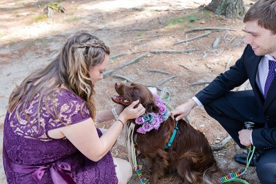 Turtles! Brunch! Dogs in ties! This rainbow lesbian wedding is all about furever love