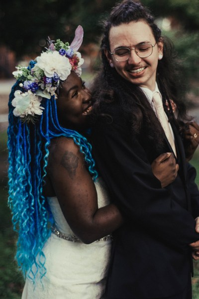 """Love + intention: a Wiccan park wedding with a breastfeeding baby as the """"bouquet"""""""