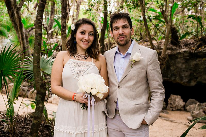 A Mexican jungle oasis awaits at this intimate cenote wedding in Riviera Maya