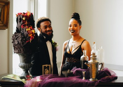 Venus flytraps and forever love at this goth wedding shoot