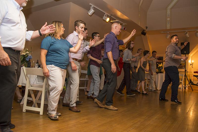 A casual Colorado wedding meets chic speakeasy party