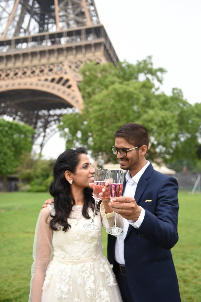 Hearts are full after seeing the family candy jar ceremony at this French vow renewal