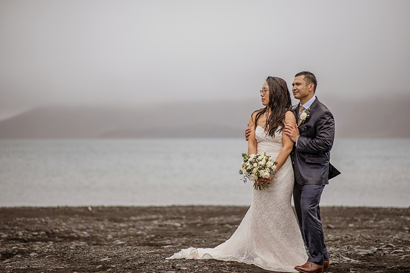 It poured at this misty wedding and we wouldn't want it any other way