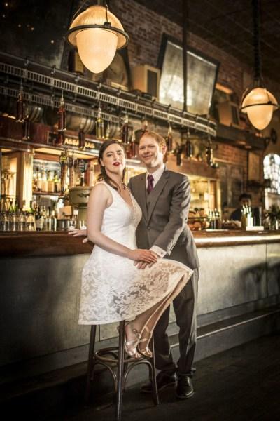 A rustic saloon wedding at a bayou style bar in Hollywood