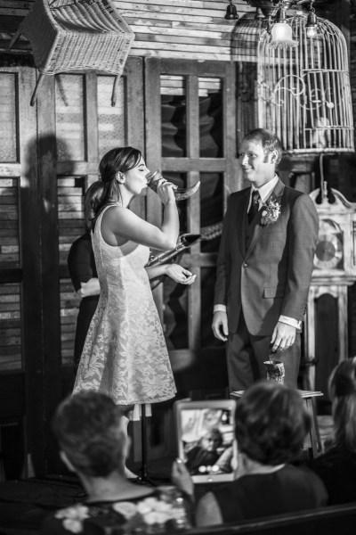 A rustic bar wedding at a bayou style saloon in Hollywood