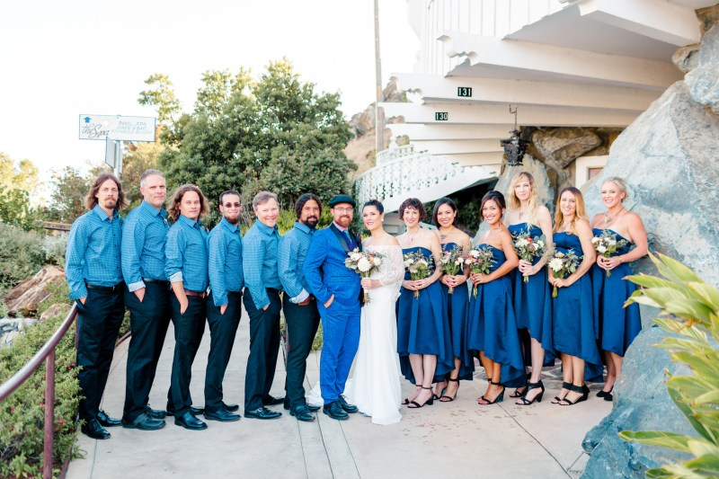 Peacock feathers, colorful lights, & a starry vibe at this Madonna Inn wedding in California