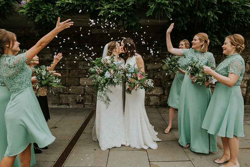 Two ladies from Sweden rocked their Manchester, UK wedding with epic florals
