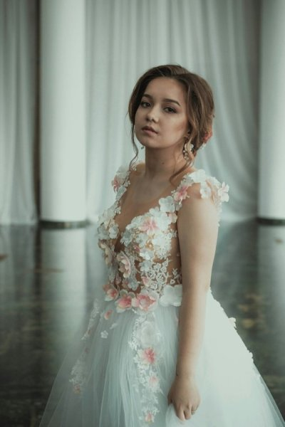 floral wedding outfits