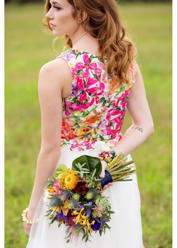 floral wedding gowns