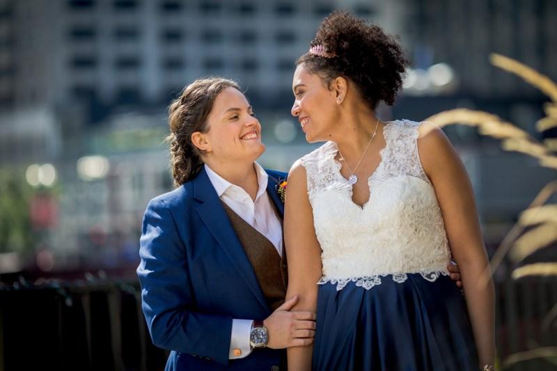 Sci-fi meets romance at this Chicago artist loft wedding