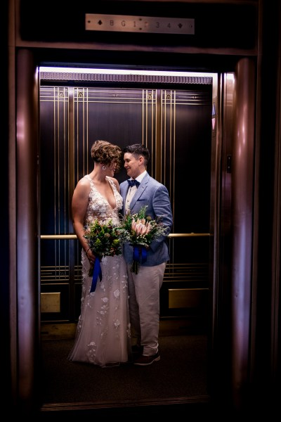 This intimate, queer Madison wedding brought the perfect amount of rainbow magic