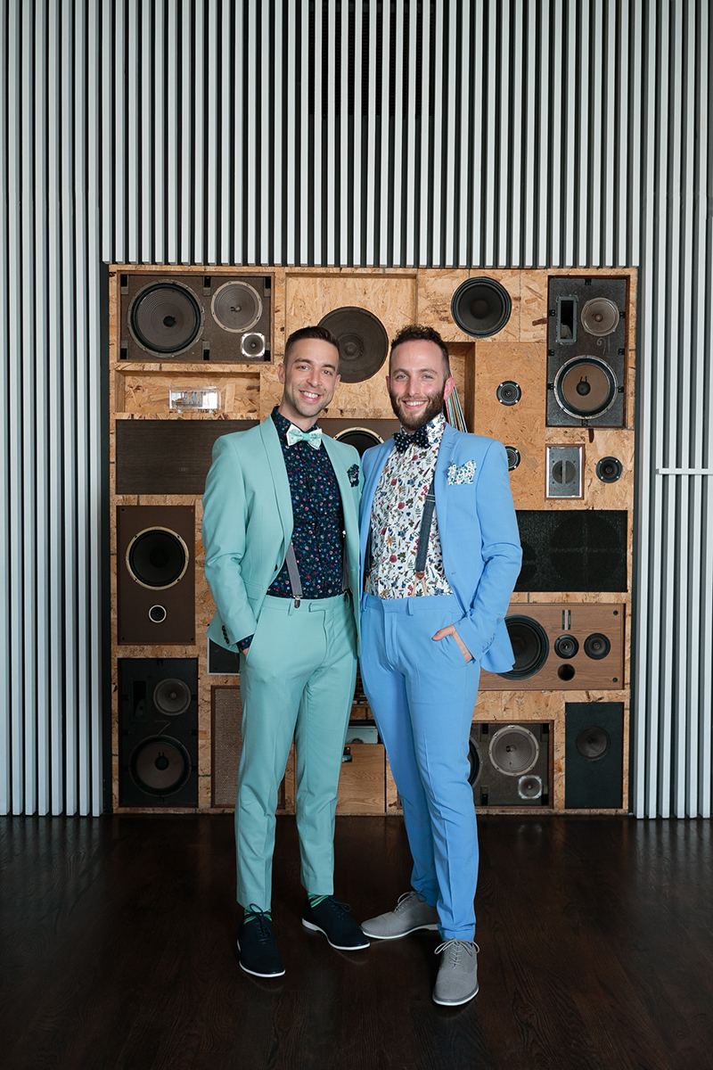Pastel suits & a surprise drag show at this two groom fête in Chicago