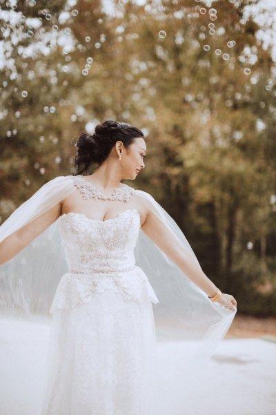 Glitz, ombre, & DETAILS: wedding capes have gotten a serious upgrade