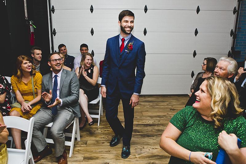 Mario Kart, an open mic, and an aisle walk through a fog machine(!) at this creative Chicago wedding