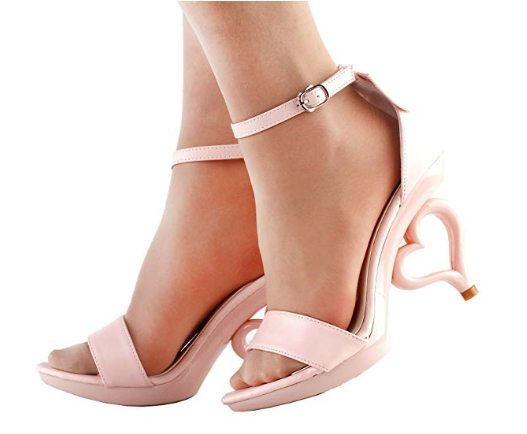 These heart-heeled shoes let your show your love from head to toe