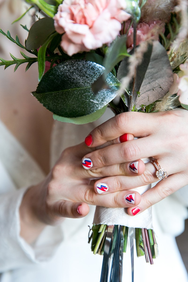 Celebrating the anniversary of Ziggy Stardust with this glam rock David Bowie-inspired wedding inspiration