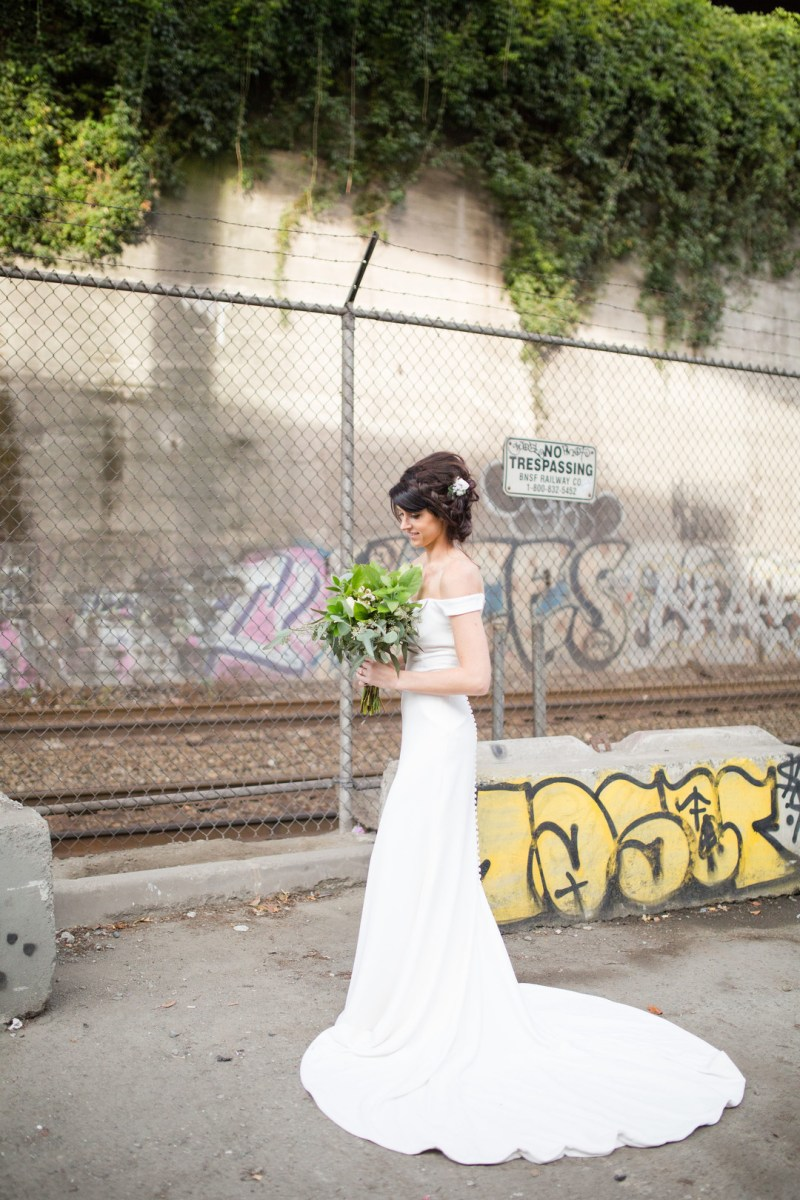 A modern and edgy wedding at Mr. West Cafe Bar in Seattle