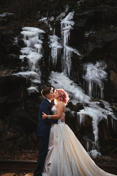 It's a rustic meets rock 'n'n roll glam wedding in the Hudson Valley