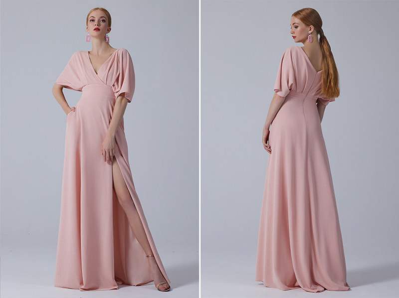 Your bridesmaids will do a happy dance in this bridal party collection in all sizes (with pockets & sleeves!)