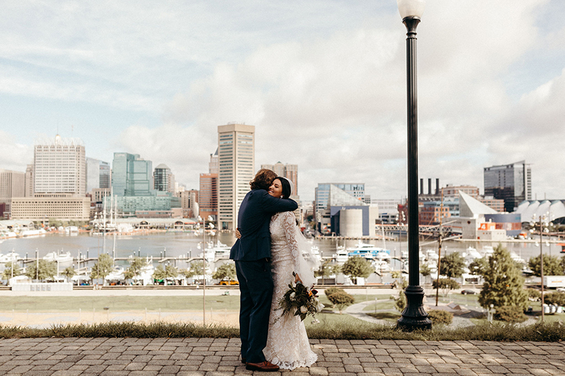 A woodsy mountain elopement in Baltimore with Ring Pops & pizza