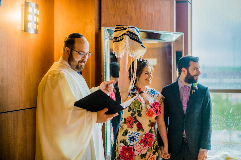Just wait until you see the dress at this colorful Washington DC wedding with Jewish traditions