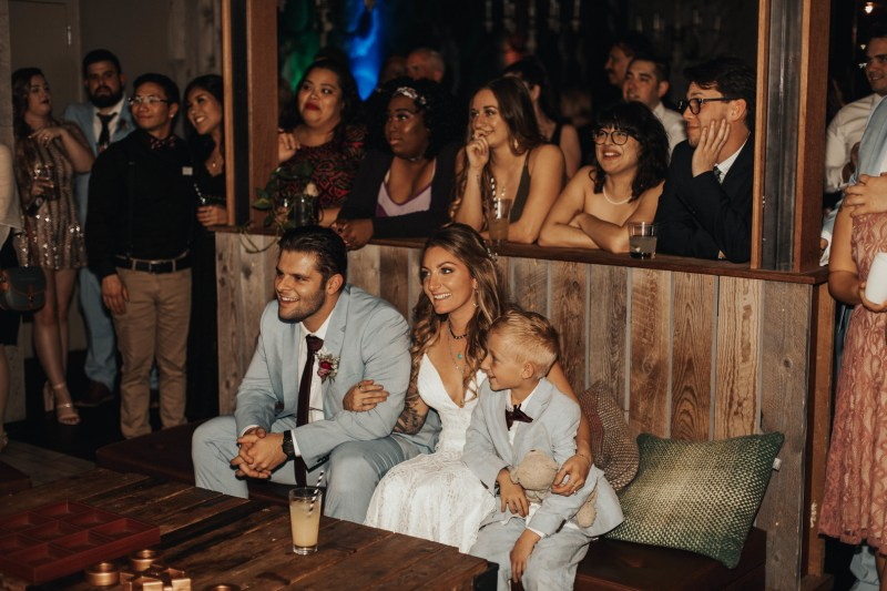 Sons of Anarchy chic meets modern warehouse at this gorgeous rustic glam wedding
