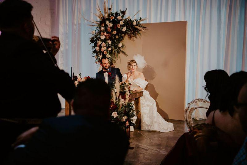 A moody & glowing Las Vegas wedding in a 1949 Las Vegas warehouse
