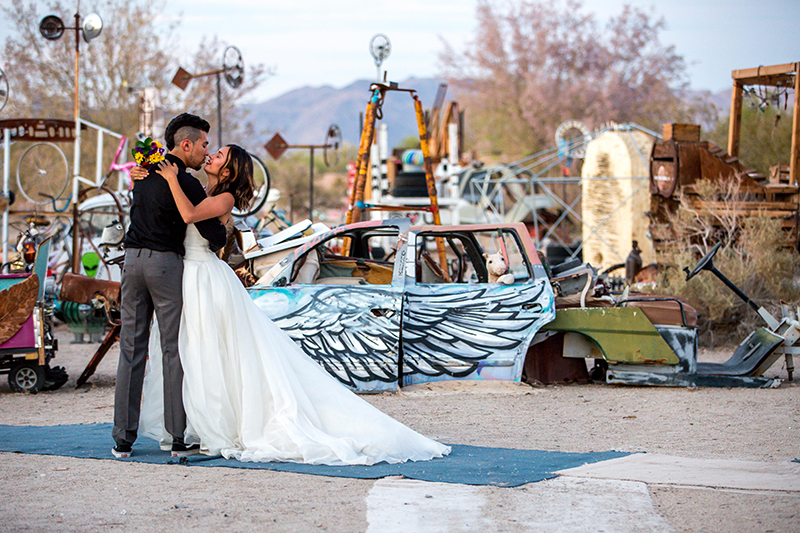Here's the magic that happens when a quirky couple meets a wild & colorful sculpture garden