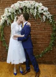 abaowedding tea length wedding dress on offbeat bride