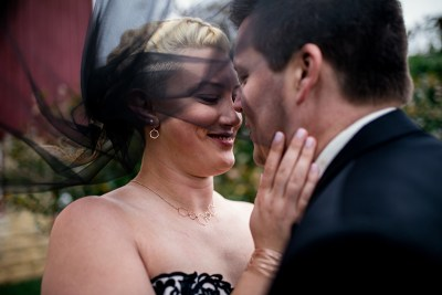 A laid-back, multicultural Olin Park wedding with a surprise dress swap (& Star Wars details!)