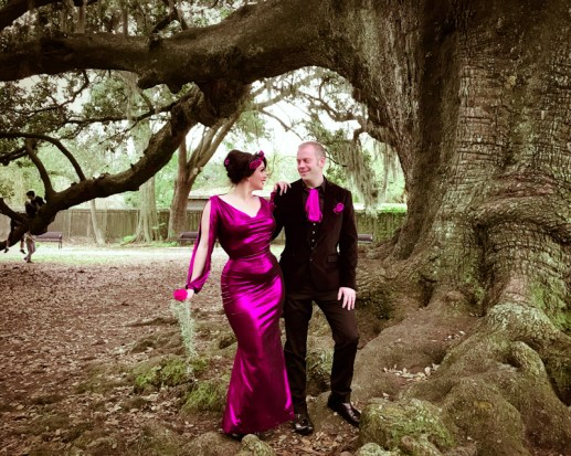 Dark Garden real bride Rosalind corset wedding gown