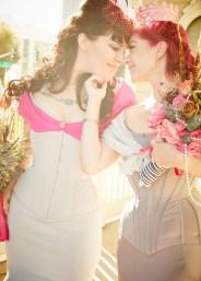 Dark Garden real brides queer wedding femme corset wedding gowns Gaede Glass Photography
